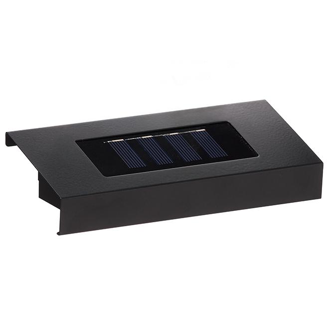 Solar LED Light for Address Plaque - Black