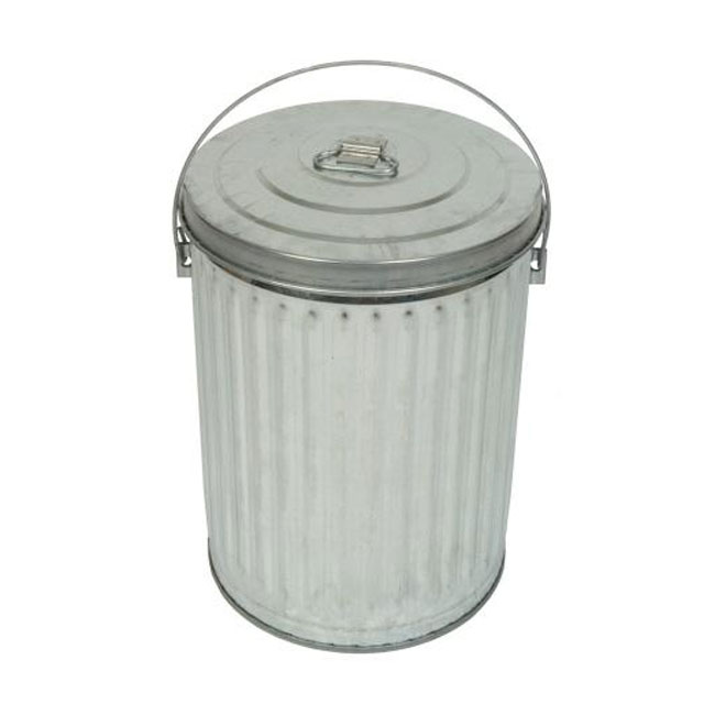 Gw Metal 41 L Galvanized Steel Garbage Can Rona