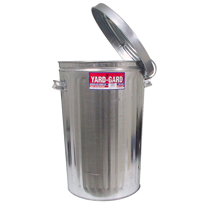 Pre-Galvanized Steel Garbage Can - 75 L