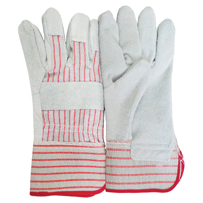 """10 1/2"""" Grey and Red Working Gloves"""
