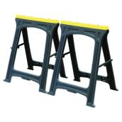 Set of 2 Sawhorses - Black