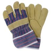 Men's Pig Leather Work Gloves - L - 6 Pairs