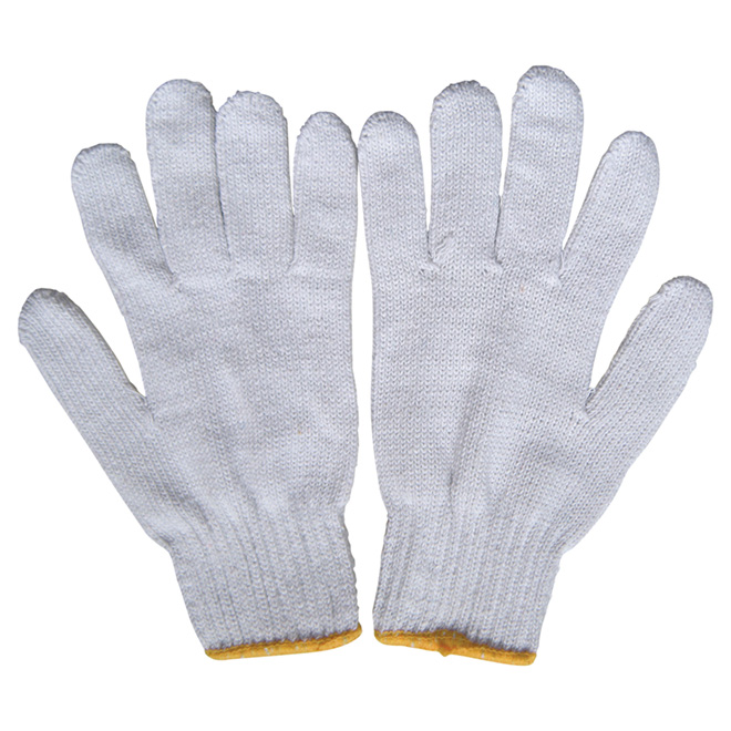 Men's Polyester Work Gloves - L - 12 Pairs