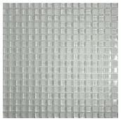 Glass Mosaic Wall Tile - White - Box of 10