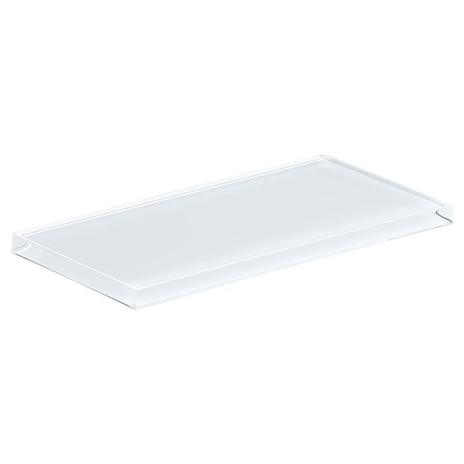 Glass Brick Wall Tile - Super Shiny White