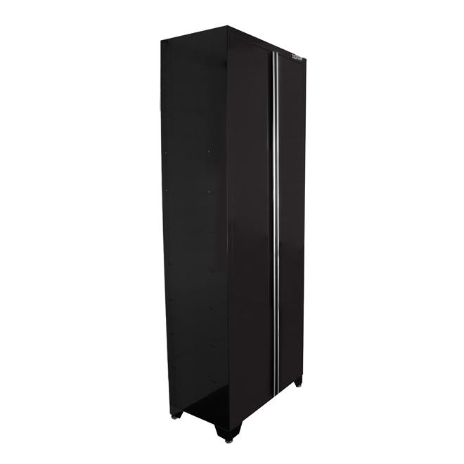Proslat 2 Door Tall Cabinet 18 X 32 X 82 Gloss Black 17004 Rona
