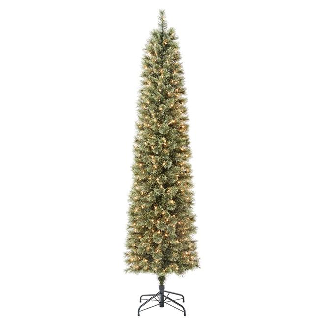 Illuminated Tree - 675 Tips - 7' - PVC/Metal - Green