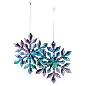 "Snowflake Ornaments - 5 1/2"" - Acrylic - Multicolour - 6/Pk"