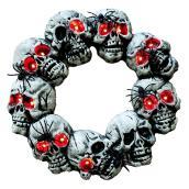 """Halloween Wreath - 18"""" x 18"""" - Grey"""