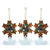 Holiday Living Snowflake Ornaments - Cork - 3/Pack