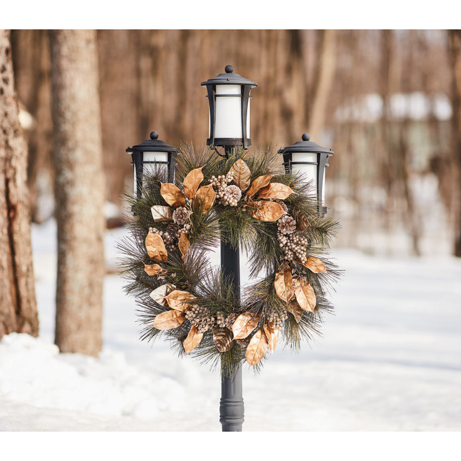 Holiday Living Biltmore Regency Wreath - 24-in - Gold/Silver