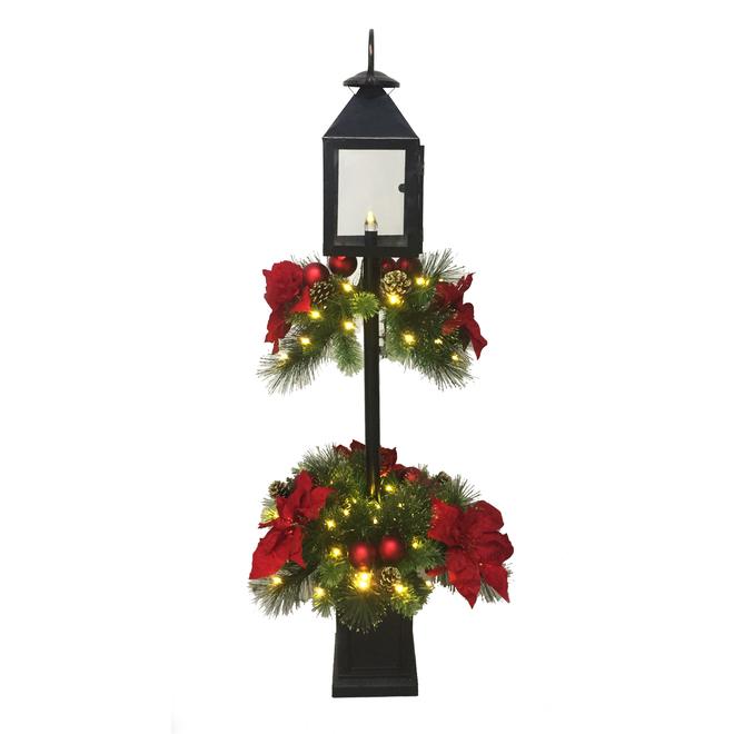 Lanterne décorée et illuminée Holiday Living, DEL/C9, 4 pi, noir