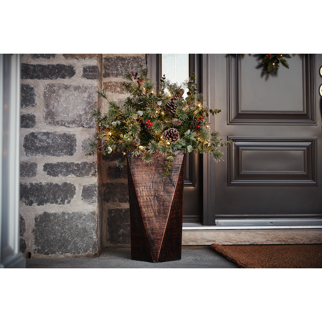 Holiday Living 3-ft Topiary - 50 Outdoor Clear Lights - 140 Tips