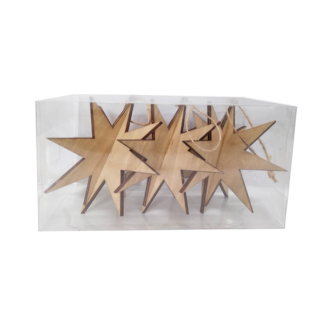 Holiday Living 3 Pieces per Pack Brown Stars