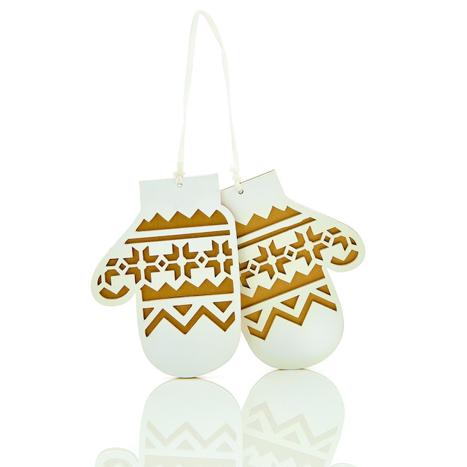 Holiday Living 6-Pack White Glove Ornaments Set