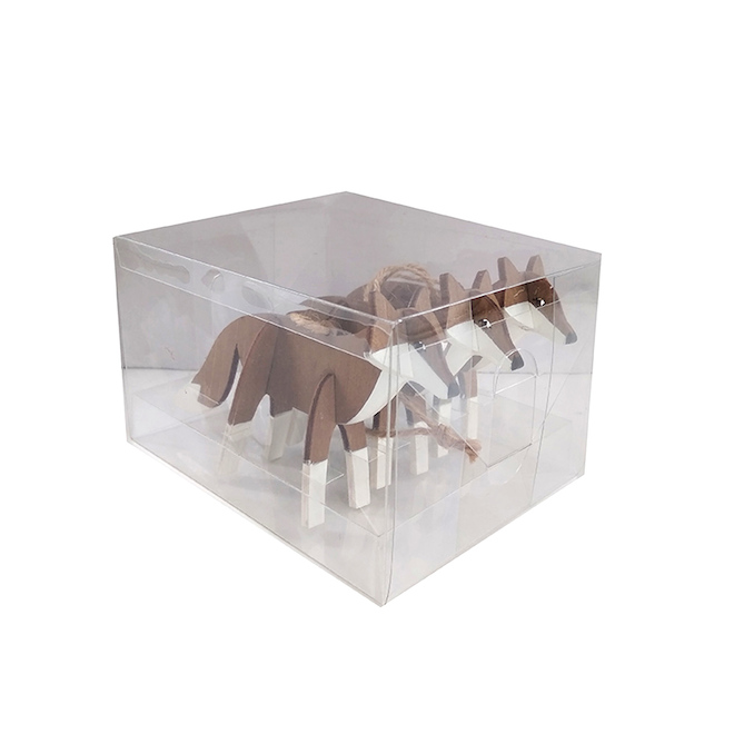 Holiday Living 3-Pack Brown-White 3D Fox Ornaments Set