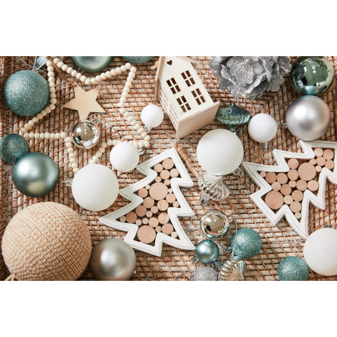 Holiday Living 2-Pack Beaded Star Ornaments