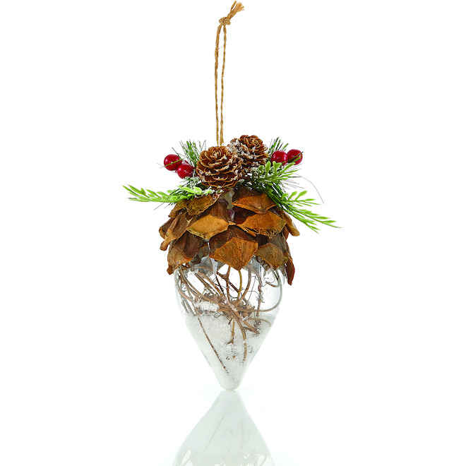 Holiday Living 3-Pack Clear Brown Finial Ornaments