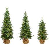Holiday Living 5-ft Pre-Lit Balsam Fir Rightside-Up Artificial Tree with 170 Lights White Lights Incandescent