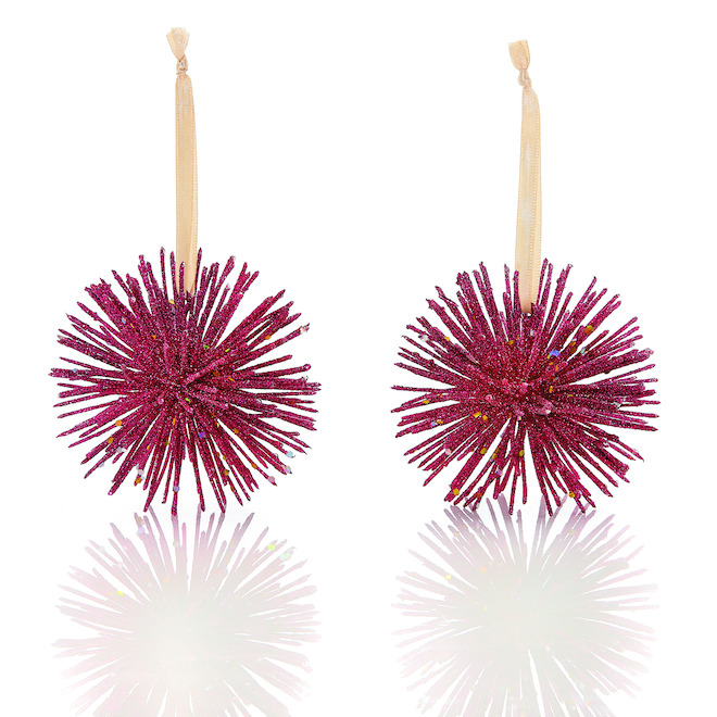 Holiday Living 2-Pack Red Star Burst Ornaments
