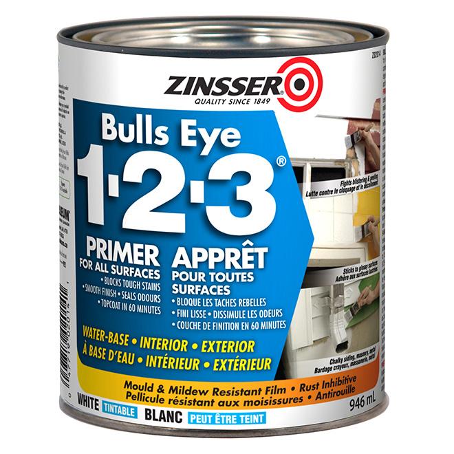 Zinsser Bull's Eye 123 Pastel Base Primer Sealer - 946 ml - White