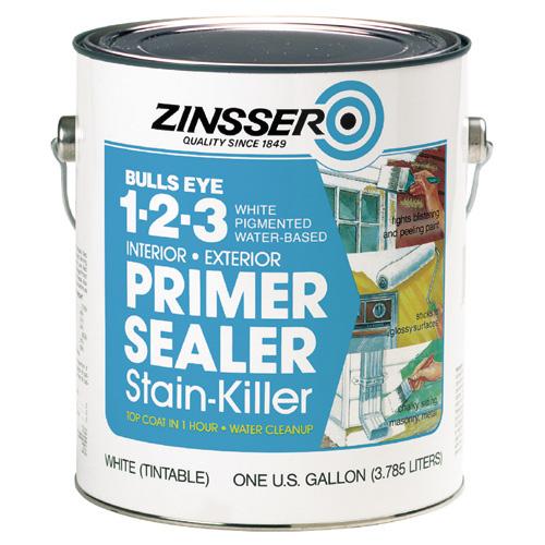 Bulls Eye 1-2-3(R) Water-Base Primer Sealer - 3.7 L - White