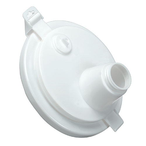 Couvercle avec bec verseur Dynamique, plastique, hermétique, blanc