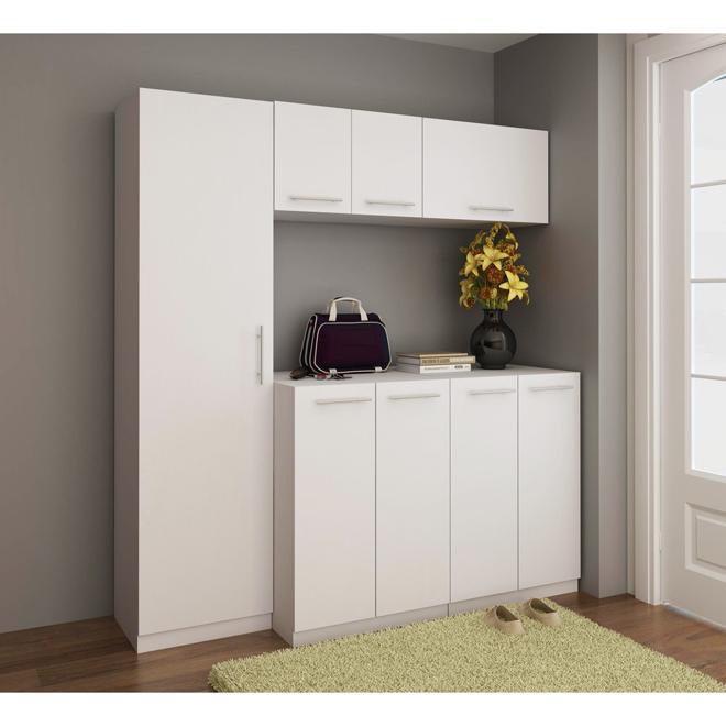 """Uberhaus 2-Doors Cabinet - 23,6"""" x 33,8"""" x 23,6""""  - White"""