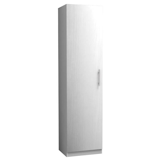 """Uberhaus 1-Door Cabinet - 18"""" x 72"""" x 15"""" - White"""