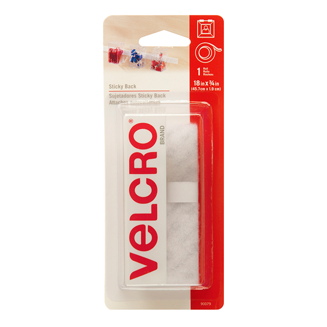 "VELCRO® Sticky Back Fasteners - 18"" x 3/4"" - White"