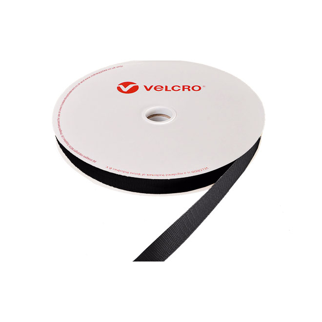 VELCRO® Glue-On Hook Strip - Black - 25 yd.