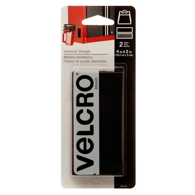 "VELCRO® Brand Fasteners - Self-Adhesive - 2x4"" - Black - 2PK"