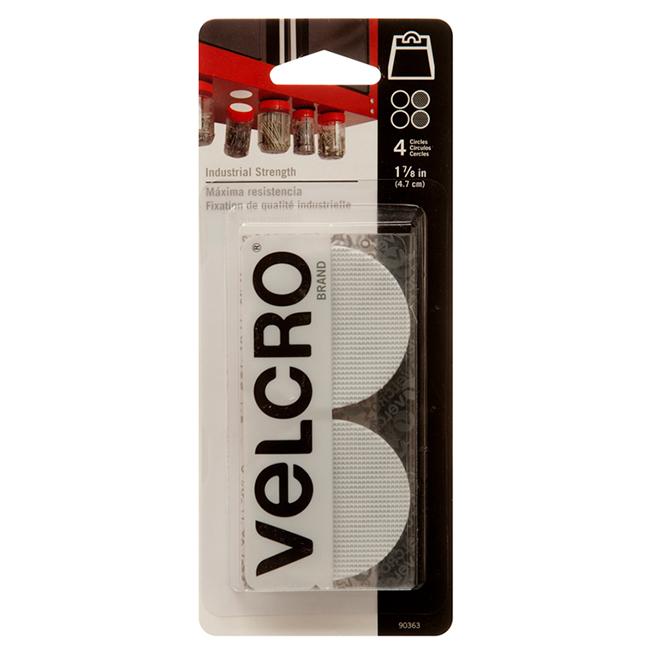 """Disques VELCRO(MD) auto-collants, 1 7/8"""", blanc, 4/pqt"""