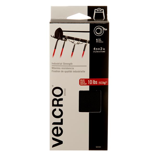 """Bande VELCRO(MD) auto-collante, 4' x 2"""", noir"""
