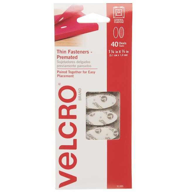 Attaches auto-collantes VELCRO(MD), 40/pqt, blanc