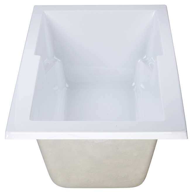 uberhaus acrylic drop-in bathtub mv-067t | rona