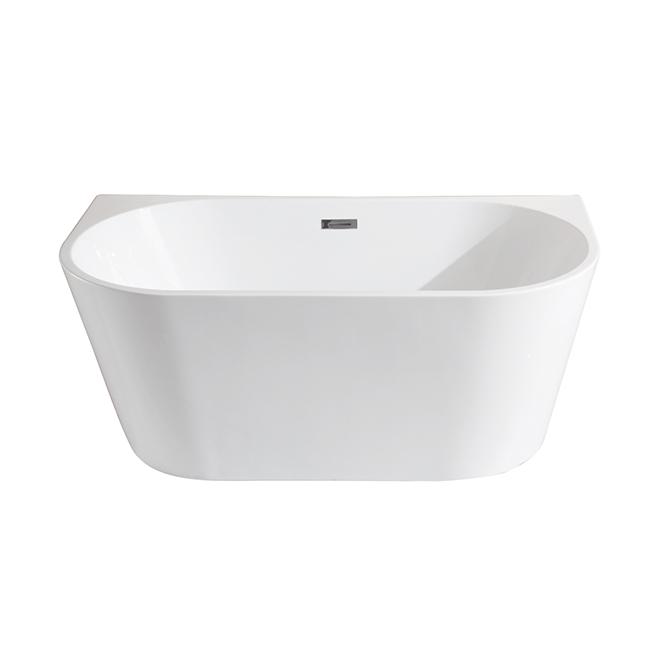 Bain autoportant en acrylique, oval, blanc