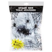 Toile d'araignée avec 6 araignées, 3 oz