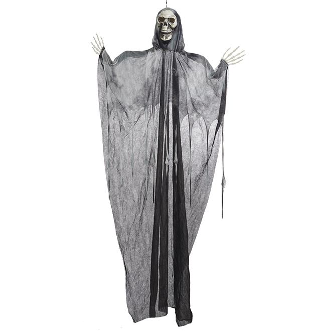 Squelette illuminé DEL, 7', noir et blanc