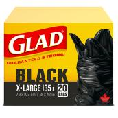 Extra Large Plastic Garbage Bags - Black - 31'' x 42''