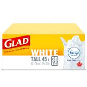 Garbage Bags - Pack of 30 - 42.5 L - White