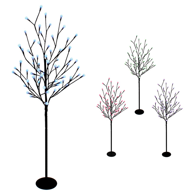 """LED-Lighted Tree - 47"""" - Red, Green, Blue"""