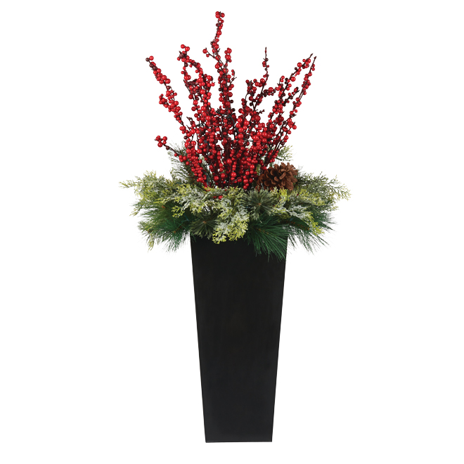 Xmas Floral Arrangement - 50 White LED Lights - 4'