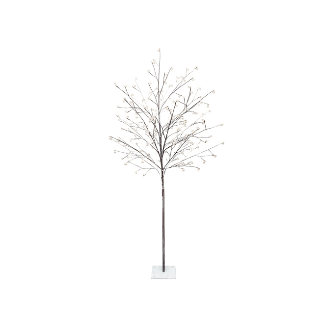 Danson Décor Jewell Snowy Tree - 180 Warm White LED Lights - 71-in - White