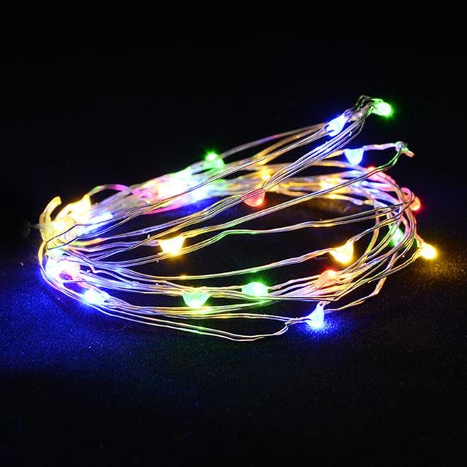Jeu de lumière intérieur à piles Holiday Living, 50 DEL, multicolores
