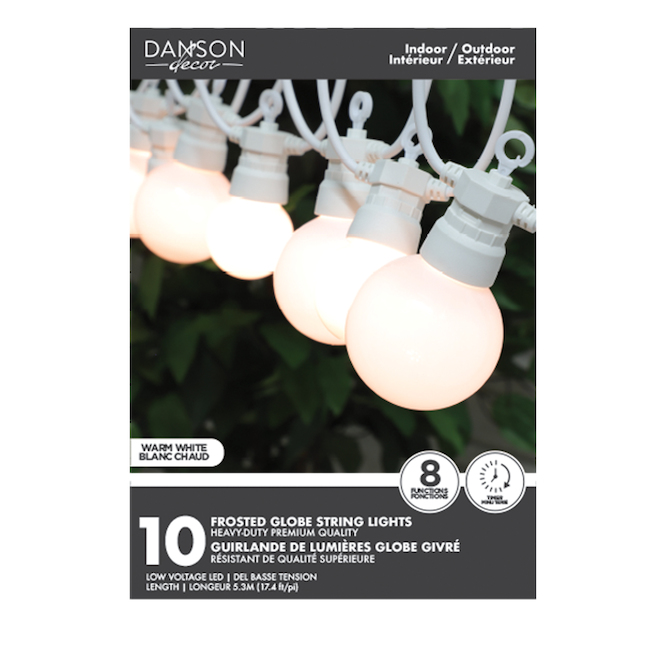 Danson Decor String Light Set - 10 Lights - G45/G60 - Warm White