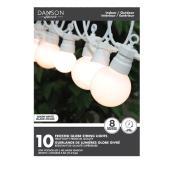 Guirlande de lumières globes à 2 formats Danson Decor, blanc chaud