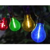 Jeu de 10 lumières multicolores traditionnelles DEL Danson Decor