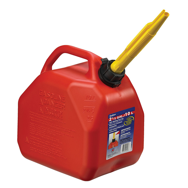 Scepter AB10 Gas Can 10-Litre - Plastic - Red