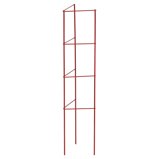 """""""Ladder"""" Metal Tomato and Plant Cage - 33-in - Red"""